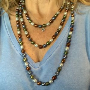 """Jewelry - 72"""" looped beaded necklace, multi colored"""